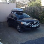 Volvo with roof box